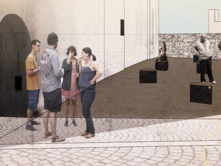 Proluka u Synagogy / fotogalerie / Návrh vzhledu proluky